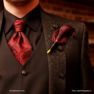 corsage voor de bruidegom met calla