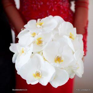 bruidsboeket orchidee wit
